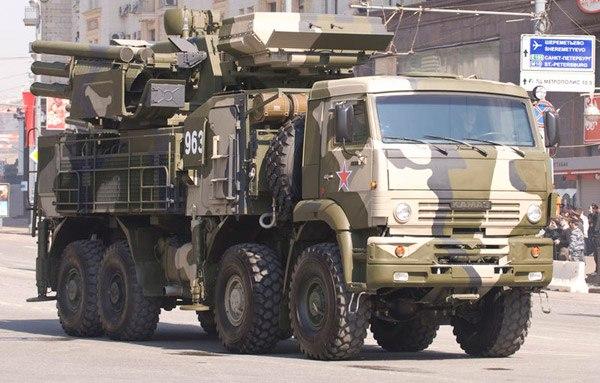 Зенитный ракетно-пушечный комплекс ЗРПК «Панцирь-С1» (96К6) на базе автомобиля КАМАЗ