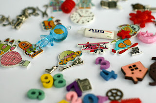 Space theme I spy trinkets for I spy bag, I spy bottle, Outer space miniatures, astronaut, robots, planets, rocket, spaceship