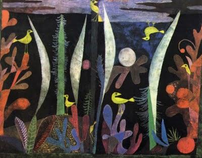 Paisagem com Pássaros Amarelos - Paul Klee - (Expressionismo) Suíço