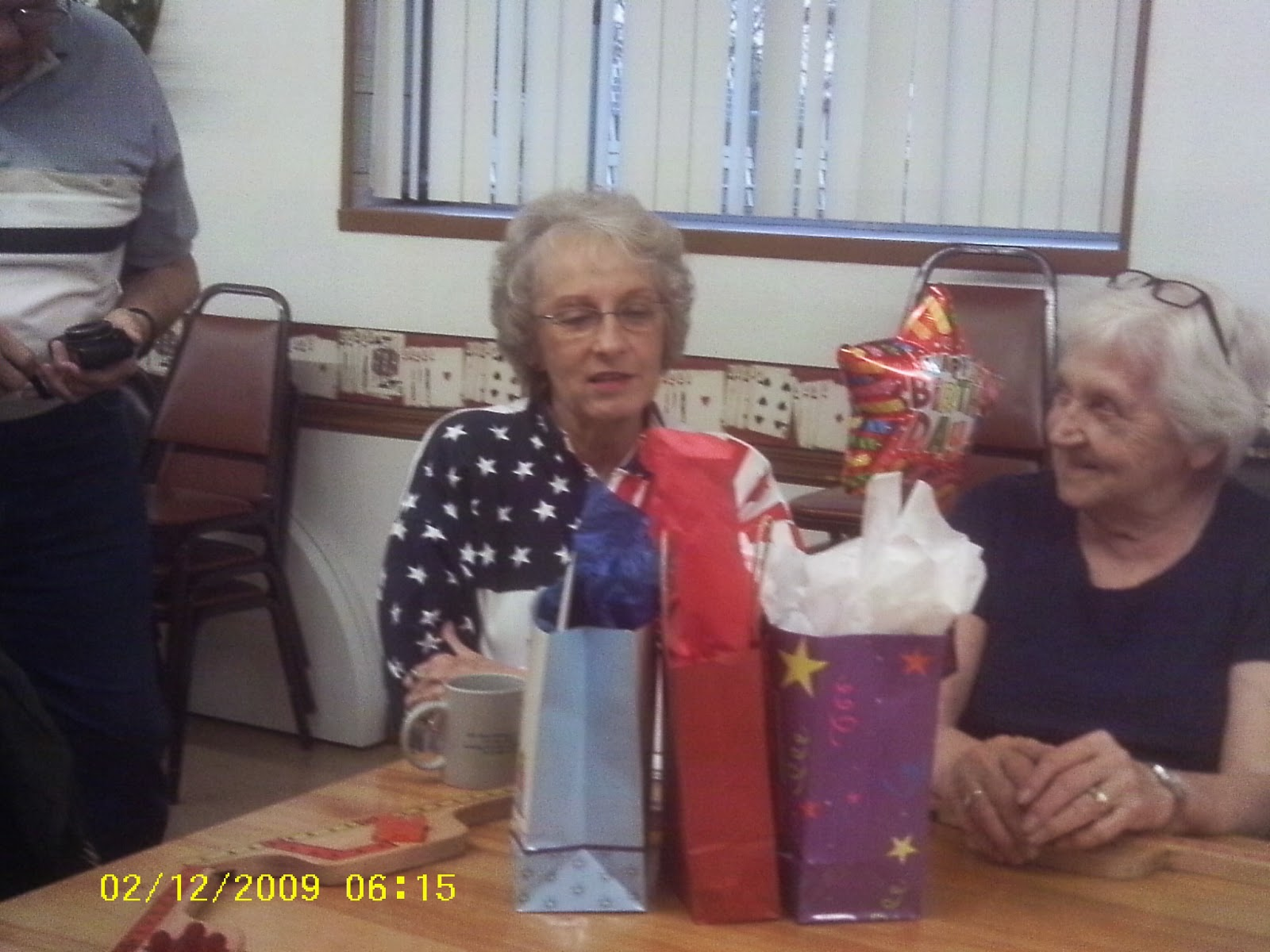 e35c60bd71 Phyllis looks at the gifts she received and was very appreciative. We had  so much fun