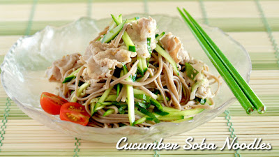 Cucumber Soba Noodles with Shabu-Shabu Pork