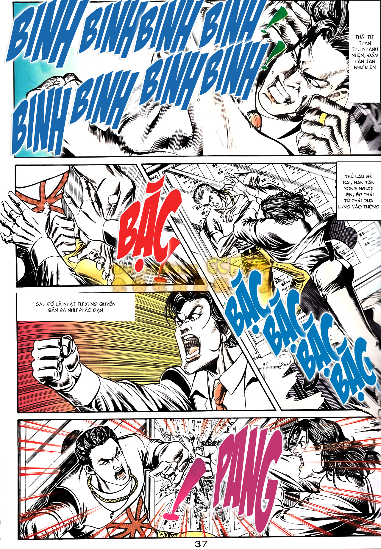 Người Trong Giang Hồ chapter 164: hạo nam chiến quạ đen trang 9