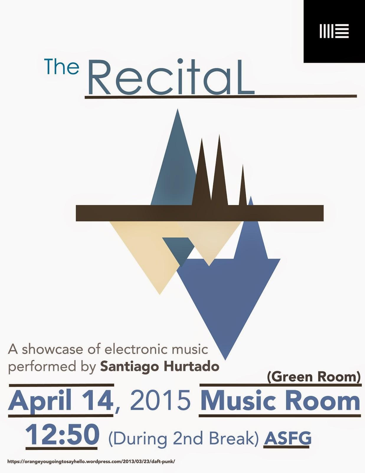 Voice recital poster templates