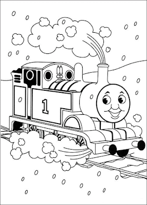 Gambar Mewarnai Thomas and Friends - 5
