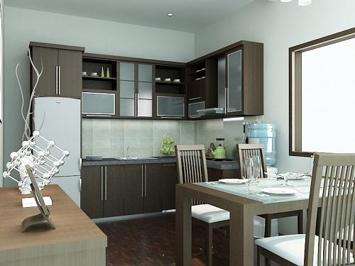Interior ruangan dapur rumah keren