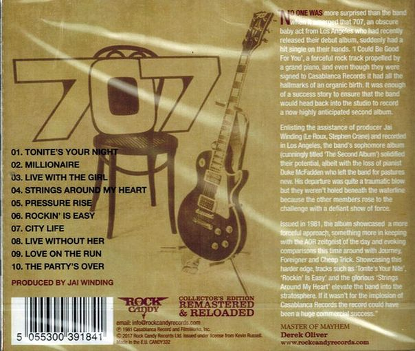 707 - The Second Album [Rock Candy remastered] (2017) back