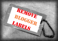 Hide labels from Blogger
