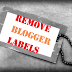 How to remove/delete labels from Blogger posts