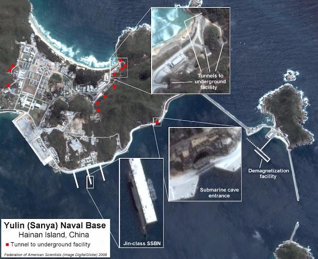 Map Attribute: Yulin (Sanya) Naval Base, Hainan Island, China / (c) 2008  DigitalGlobe via FAS