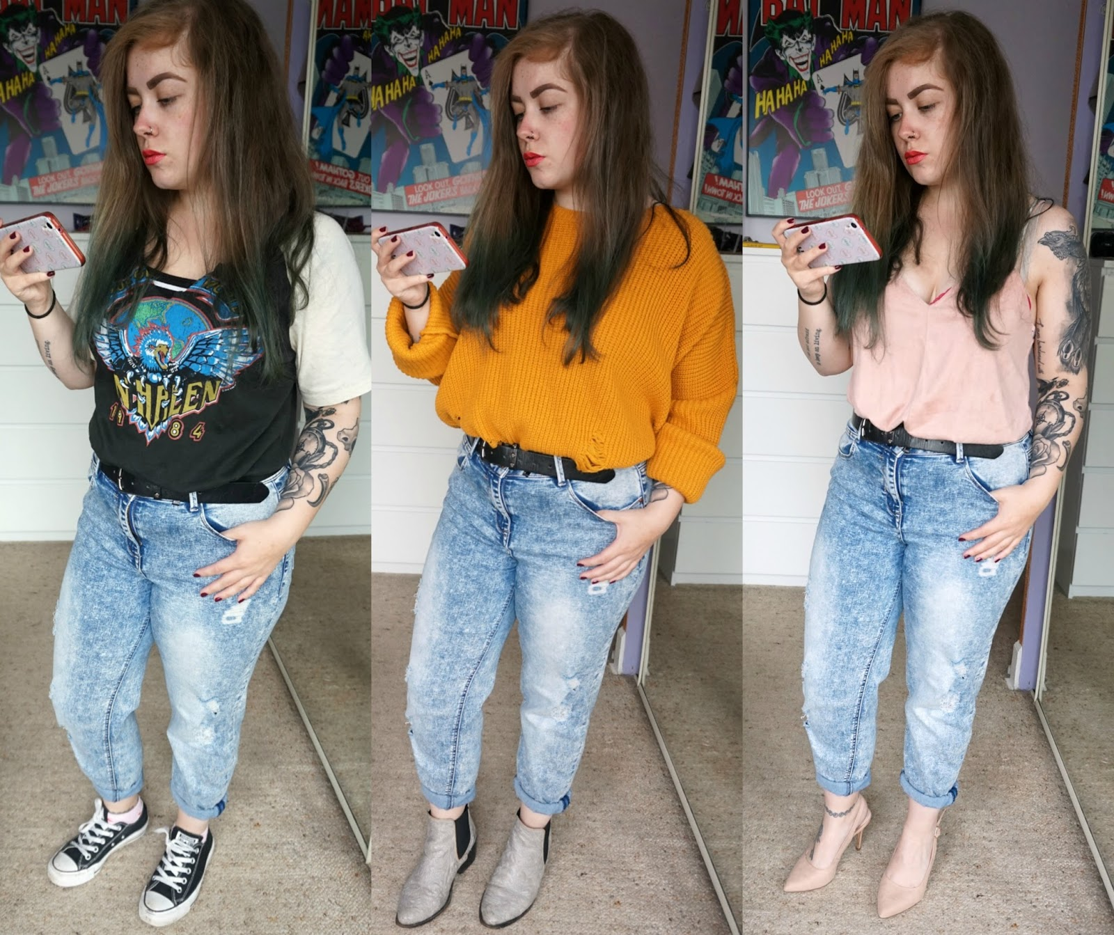 how to wear boyfriend jeans, 3 ways to style boyfriend jeans