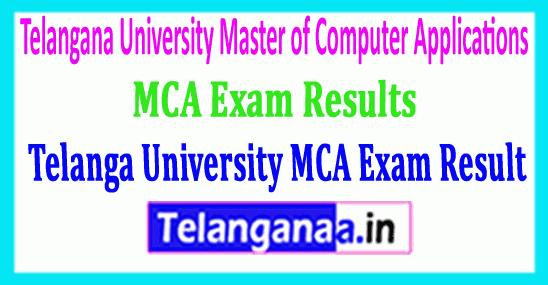 Telangana University MCA Exam 2018 Results