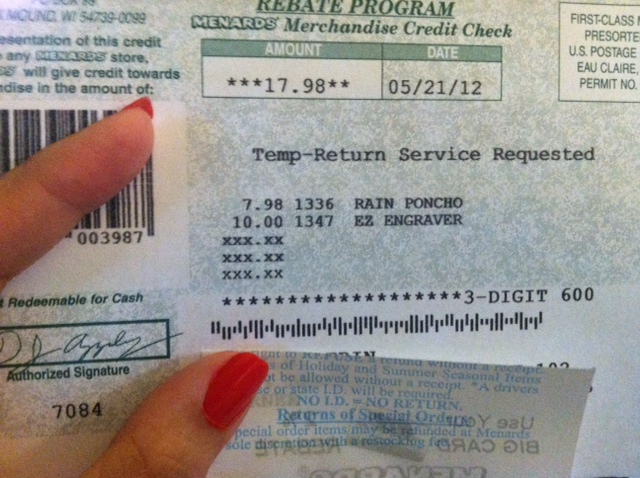 Bargain Barton: How to Use Menards Rebates