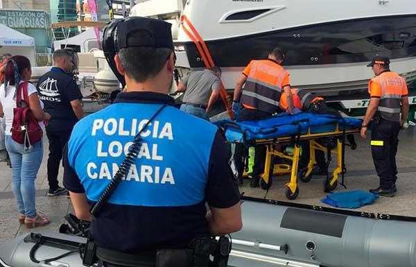 Un herido en la Feria Internacional del Mar 2019, Las Palmas
