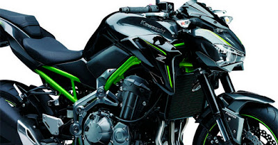 2017 Kawasaki Z900 green checis
