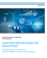 Making Renewables Smarter: The benefits, risks, and future of artificial intelligence in solar and wind (Credit: DNV GL) Click to view.