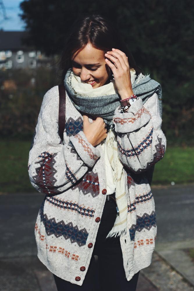 willascherrybomb boho cardigan ootd outfit lookbook winter