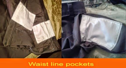 Waist line pockets