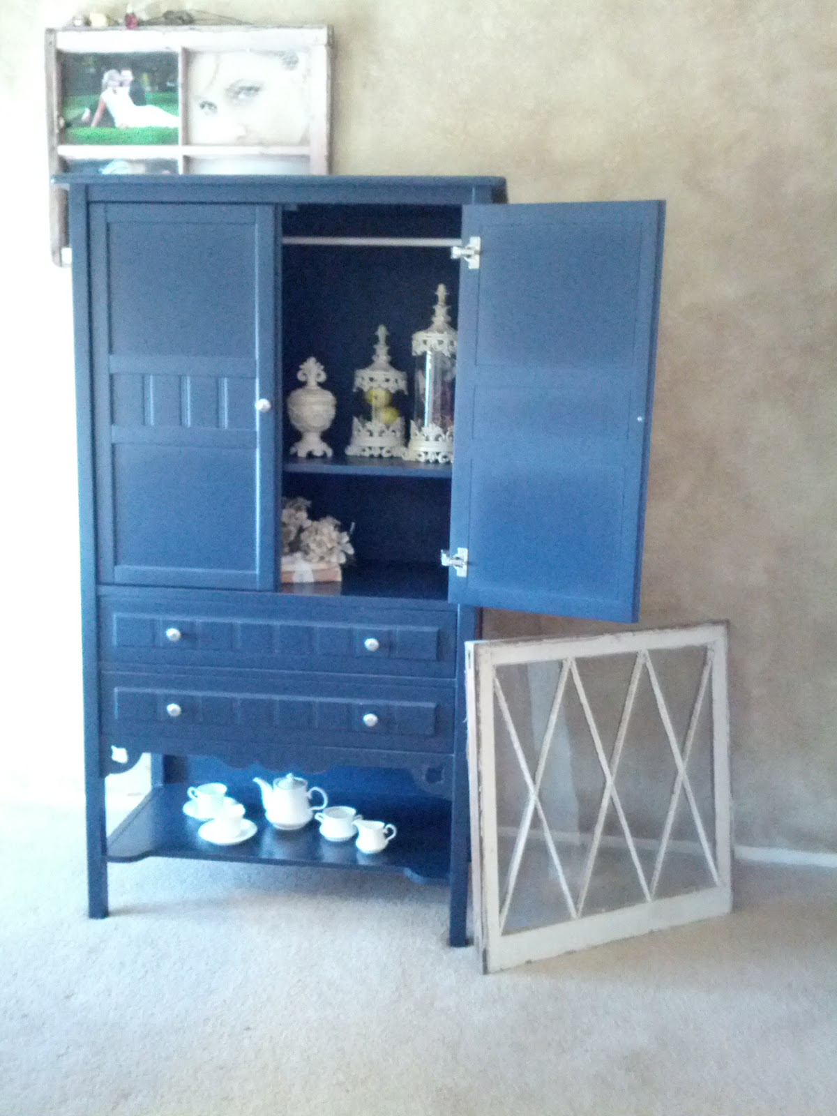 pottery barn kitchen hutch contractors country chic armoire