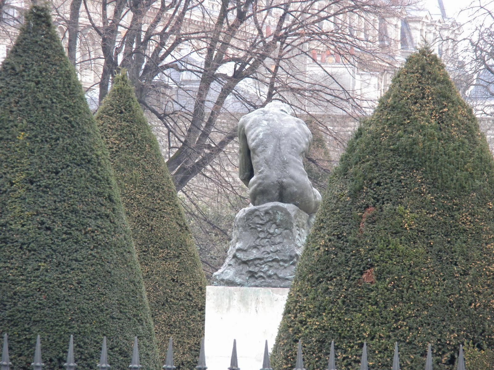 Rear of Rodin Museum in Paris