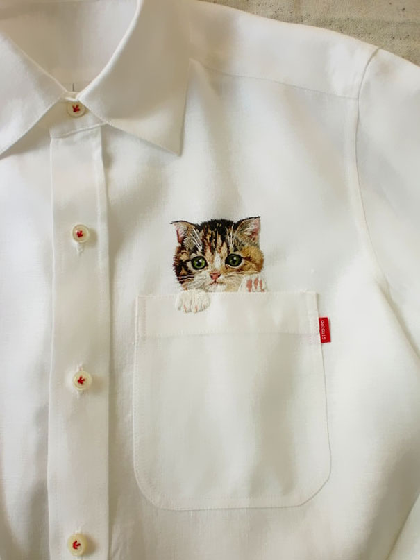 Embroidered Cat Shirts