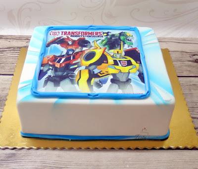 tort z wydrukiem