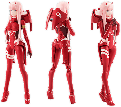 "S.H.Figuarts Code:002 (Zero Two) de ""DARLING in the FRANXX"" - Tamashii Nations"