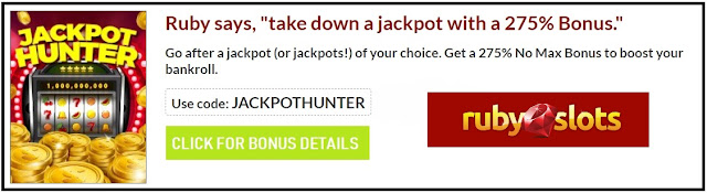 RTG casino coupon code JACKPOTHUNTER | 275% no-max match bonus