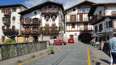 I love the houses in northern Navarra (Elizondo pictured)