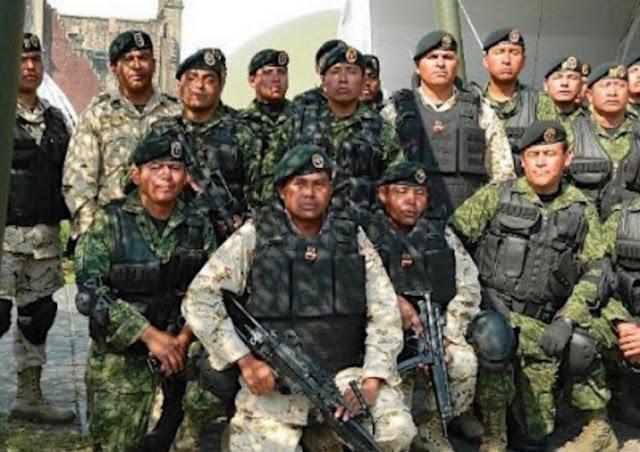 Soldados mexicanos de élite reclutados por cárteles, elegidos dos veces, una por la milicia, otra por...el narco