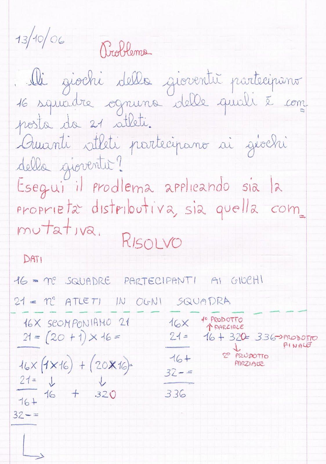Problema (proprietà distributiva - proprietà commutativa)