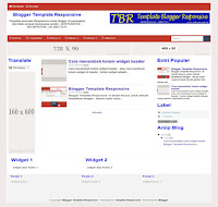 Contoh Blogger Template Responsive