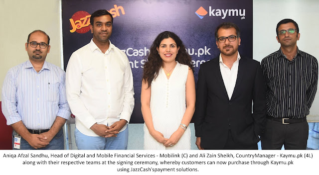 JazzCash to provide its Payment Solutions to Kaymu's Customers