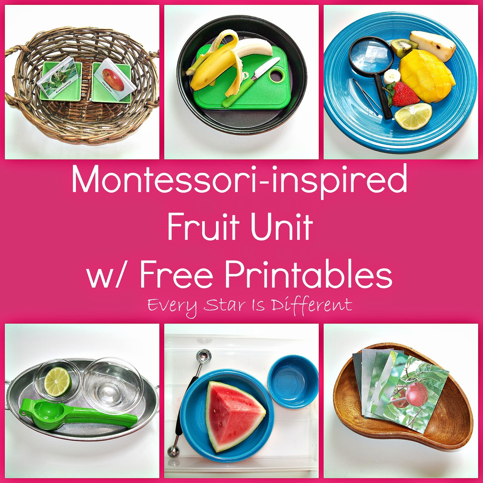 Montessori-inspired Fruit Unit with Free Printables