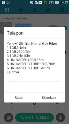 paket internet im3 1000 1gb