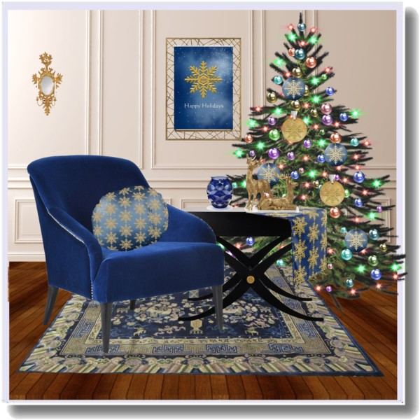 royal blue and gold christmas designed by sgolis shop for gold snowflake decoration below - Royal Blue And Gold Christmas Decorations
