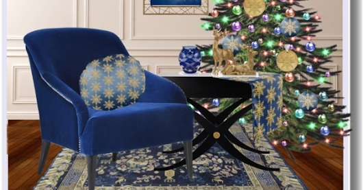 Royal Blue and Gold Christmas Decor
