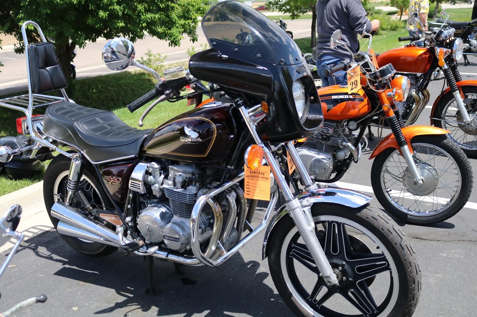 oldmotodude 1980 honda cb650 custom on display at the 2017 vintage motorcycle show frederick. Black Bedroom Furniture Sets. Home Design Ideas