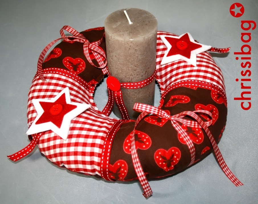 Adventskranz mal anders! - chrissibag