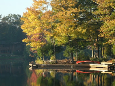 Beautiful still water on Lake Muskoka Thanksgiving 2011 by garden muses: a Toronto gardening blog