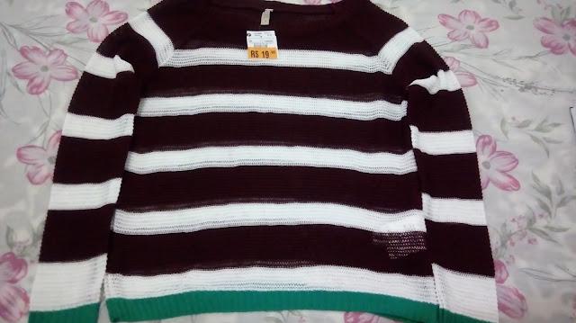 """Achegue-se! Comprinhas: """"Tudo"""" por R$ 19,90 blusa tricô Renner"""