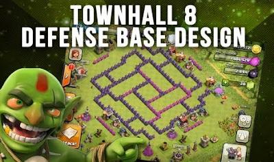 Base War COC TH 8 Terbaik Terkuat
