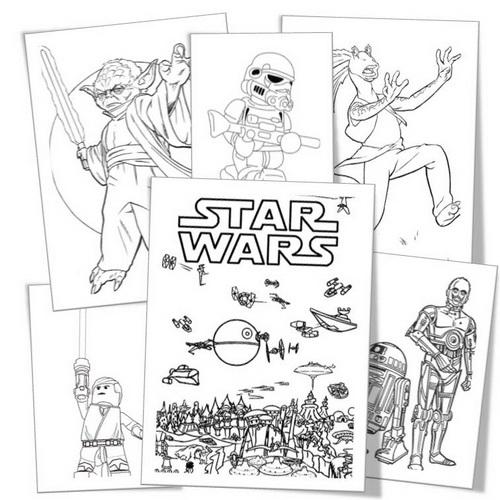 Напечатай и Играй: Звездные войны (Star wars). Раскраски