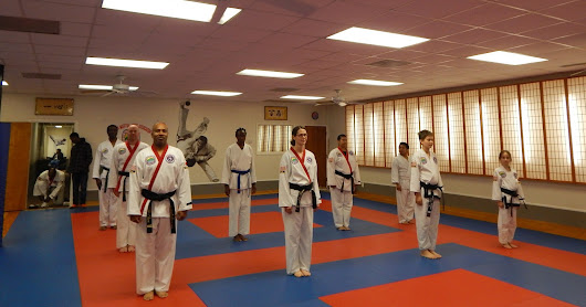 A nice surprise visit with several black belts