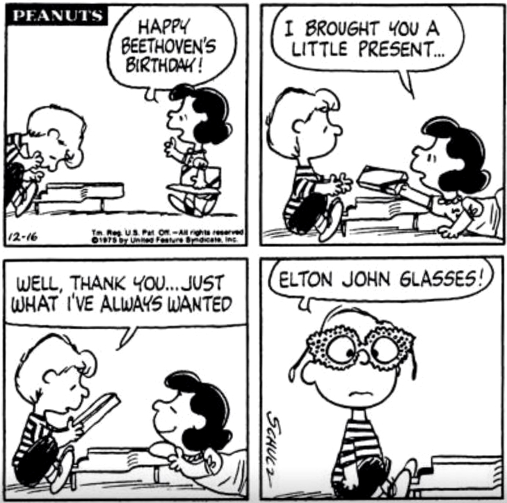 Peanuts by Charles M. Schulz.