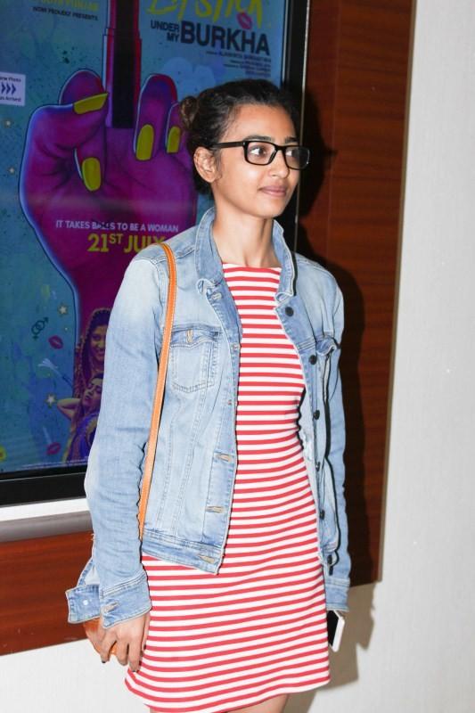 Shraddha Kapoor and Radhika Apte Snapped at Lipstick Under My Burkha Screening