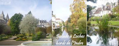 balade France balade d'automne visite Loches sur les Bords de l'Indre Cité royale
