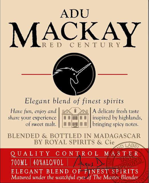création étiquette packaging whisky Adu Mackay