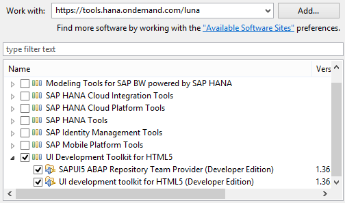 How to install SAPUI5 tools in Eclipse IDE - BASIS & HANA
