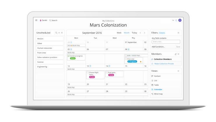 Zenkit - plataforma para la gestión de proyectos en tu empresa