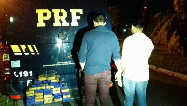 Polícia prende dois com 37 quilos de cocaína em Duque de Caxias